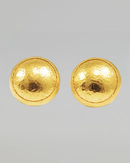 Gurhan Amulet 24k Gold Round Stud Earrings