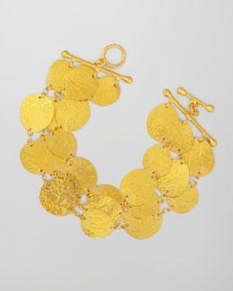 Gurhan Contour 24k Gold All-Around 3-Strand Bracelet