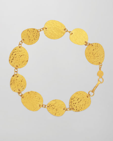 Contour 24k Gold All-Around 1-Strand Bracelet