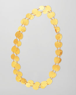 Gurhan Contour 24k Gold All-Around 1-Strand Necklace, 39""