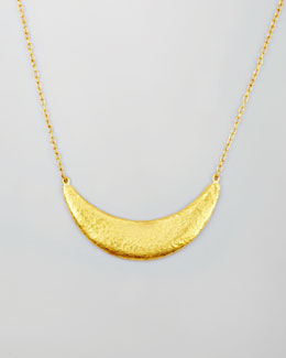 Gurhan Arc 24k Gold Half Moon Necklace