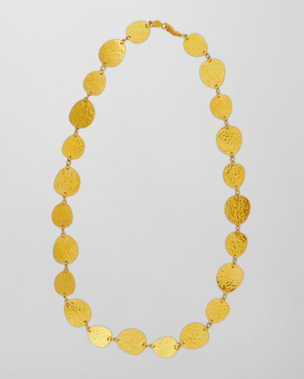 "Contour 24k Gold All-Around 1-Strand Necklace, 17"""
