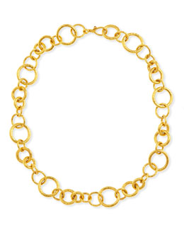 "Gurhan Hoopla Collection 24k Gold Chain Necklace, 18""L"