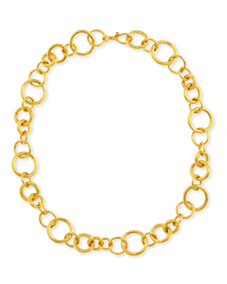 """Hoopla Collection 24k Gold Chain Necklace, 18""""L"""