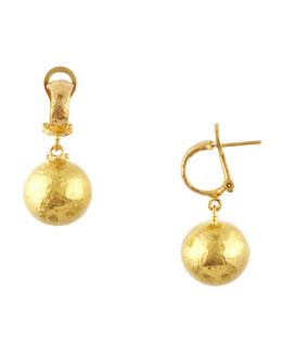Gurhan Dome 24k Gold Ball Drop Earrings