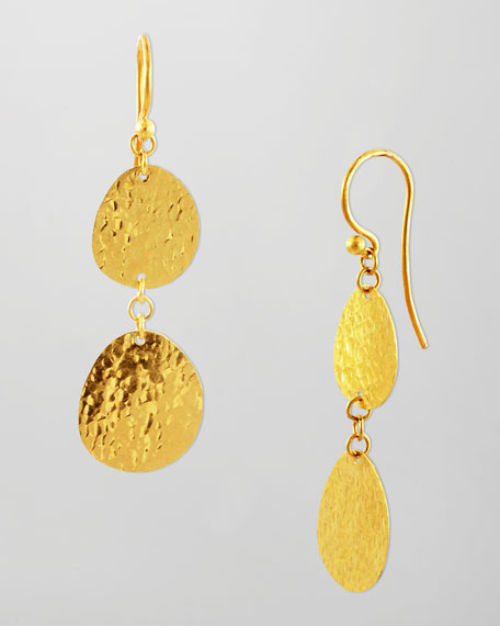 Contour 24k Gold Double-Drop Earrings