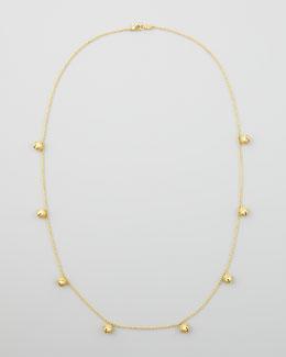 "Paul Morelli 18k Jingle Meditation Bell Necklace, 28""L"
