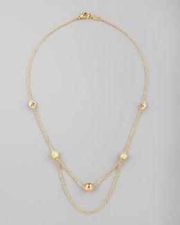 "Paul Morelli 18k Jingle Meditation Bell Necklace, 16""L"