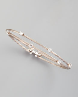 Paul Morelli 18k White Gold Six-Diamond Bracelet, 0.60 TCW