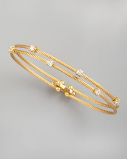 Paul Morelli 18k Yellow Gold Six-Diamond Bracelet, 0.60 TCW