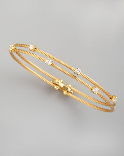 18k Yellow Gold Six-Diamond Bracelet, 0.60 TCW