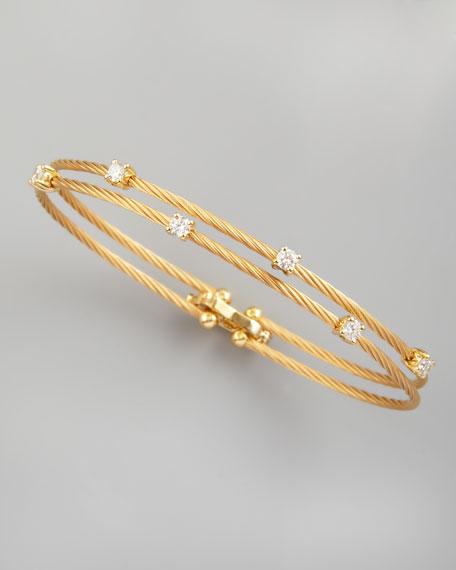 18k Yellow Gold Six-Diamond Bracelet, 0.60 TCW