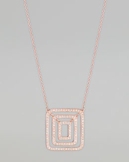Mimi So Piece 18k Rose Gold Diamond Pendant Necklace