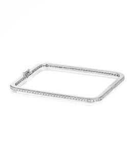 Mimi So Piece 18k White Gold Diamond Bangle