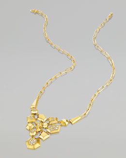 Mimi So Jackson 18k Gold Diamond Bib Necklace