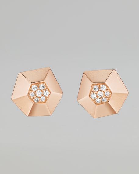 Jackson Rose Gold Diamond Stud Earrings