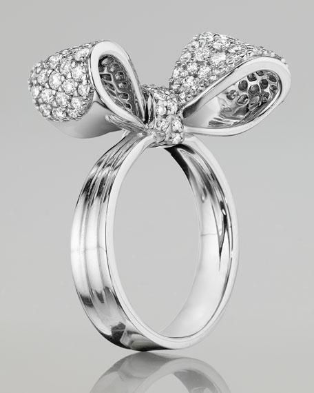 Bow Small 18k White Gold Diamond Ring