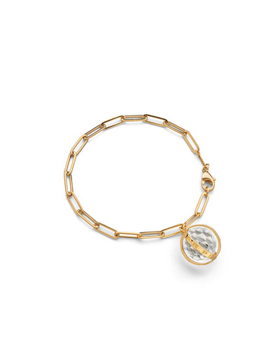 Carpe Diem Charm Bracelet in 18K Yellow Gold