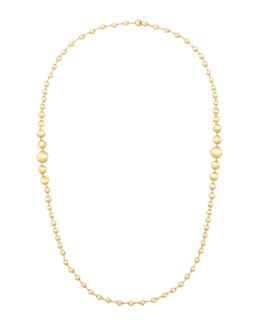 "Marco Bicego Africa 18k Brushed Gold-Bead Necklace, 36""L"