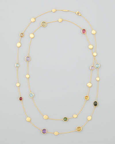 "Jaipur Color Semiprecious Station Necklace, 48""L"