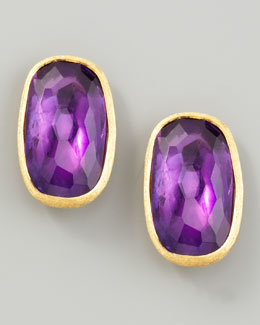 Marco Bicego Murano 18k Amethyst Stud Earrings, 20mm