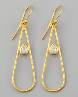 Gurhan Glow 24k Teardrop Diamond Earrings