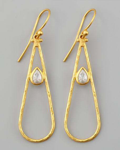 Glow 24k Teardrop Diamond Earrings