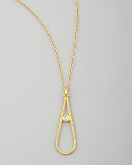 Gurhan Glow 24k Teardrop Diamond Pendant Necklace