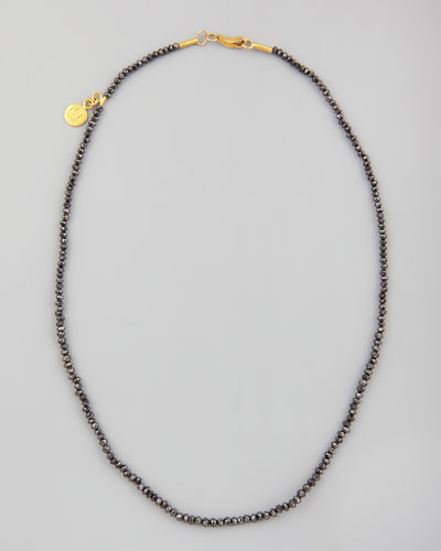 "Gurhan Dark Mist Black Diamond Necklace, 15""L"
