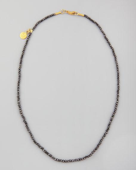 "Dark Mist Black Diamond Necklace, 15""L"