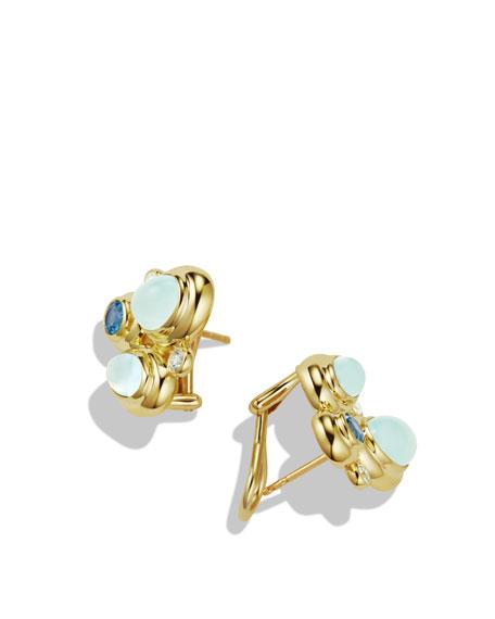 Blue Oval Mosaic Earrings