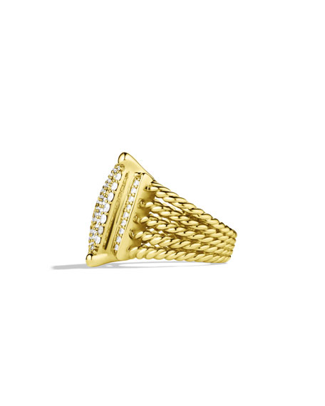 Wheaton Ring with Diamonds in Gold, Size 7