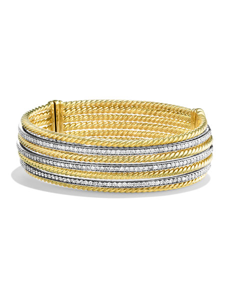 David Yurman Lantana Bracelet with Diamonds in Gold