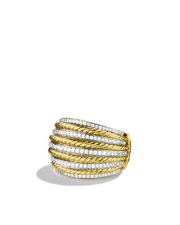 David Yurman Lantana Large Dome Ring with Diamonds in Gold