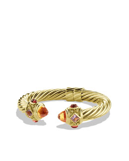 David Yurman Renaissance Bracelet with Citrine and Iolite in Gold