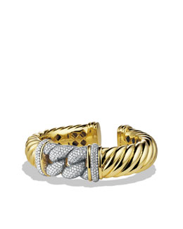 David Yurman Metro Bracelet with Diamonds in Gold
