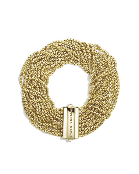 Box Chain Multi-Row Bracelet in Gold