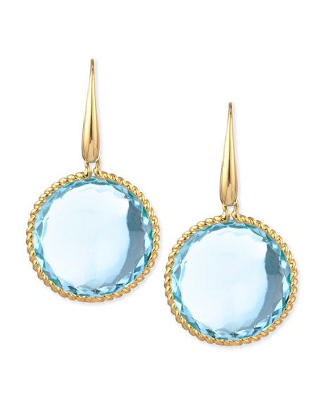 Roberto Coin 18k White Gold Blue Topaz & Diamond Drop Earrings KMO6Yr14De