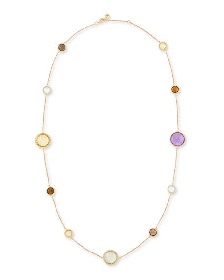 "Ipanema 18k Gold Semiprecious Station Necklace, 33""L"