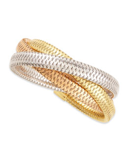 Roberto Coin Primavera 9.5mm 18k Mixed Gold Bracelet