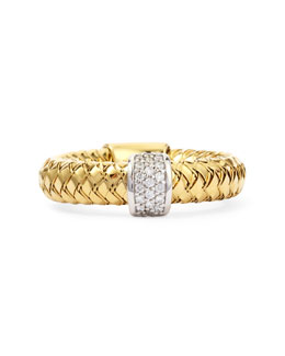 Robert Coin Primavera 18k Yellow Gold GHSI Diamond Ring