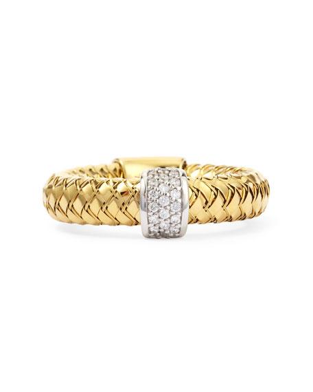 Primavera 18k Yellow Gold GHSI Diamond Ring