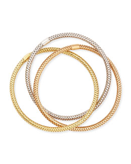Roberto Coin 5mm Primavera 18k Mixed Gold Bracelet