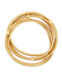Robert Coin Primavera 18k Yellow Gold 5-Strand Bracelet