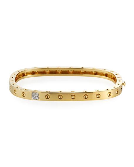 Pois Moi One-Row Diamond Bangle, Yellow Gold