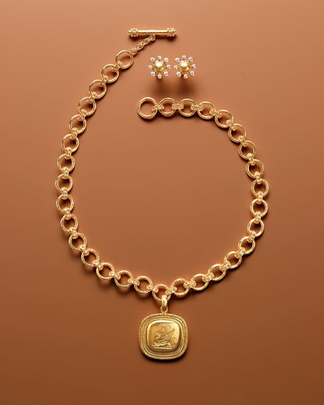 19k Small Elba Flat Link Necklace