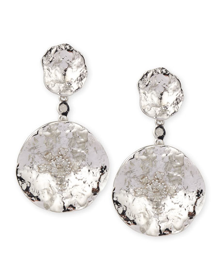 COOMI Serenity Double-Flower Diamond Earrings