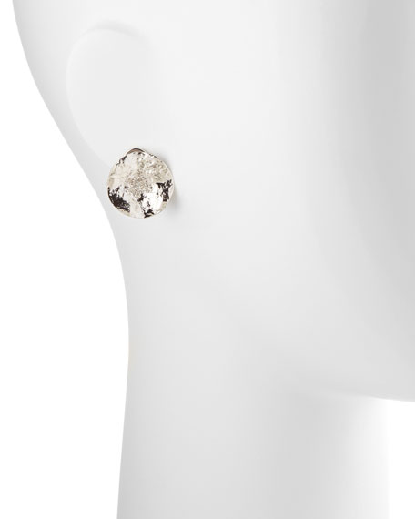 Serenity Small Sterling Flower Earrings with Diamond Center