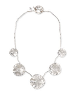 COOMI Serenity Silver Diamond & Floral Bib Necklace