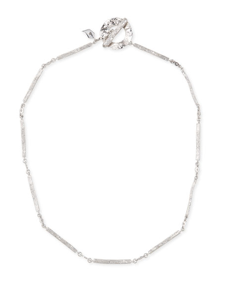 COOMI Serenity Silver Twig & Diamond Necklace